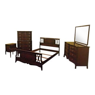 Antique Chippendale-Style Bedroom Set