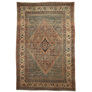 Persian Hand Knotted Wool Mashad Rug- 10′9″ × 16′8″