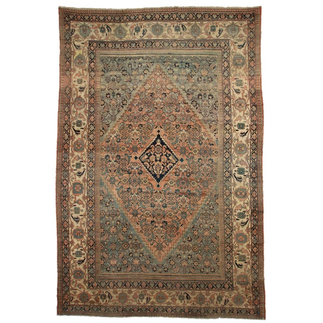 Image of RugsinDallas Persian Hand Knotted Wool Mashad Rug- 10′9″ × 16′8″