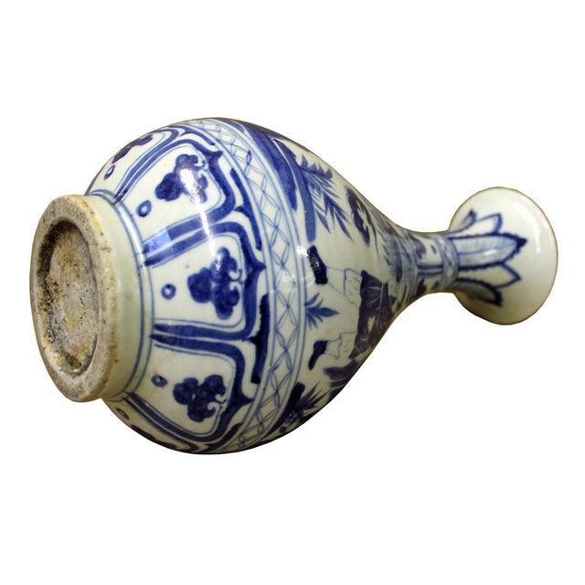 Chinese Blue & White Porcelain Yuhuchunping Vase - Image 5 of 6