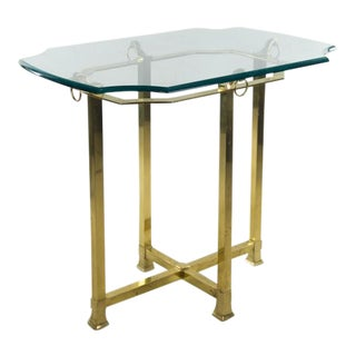 Vintage Italian Brass & Glass Side Table