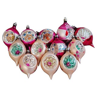 Christmas Indent Ornaments - Set of 12