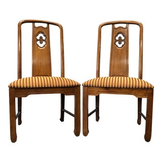 Thomasville Mystique Asian Influenced Dining Chairs - A Pair