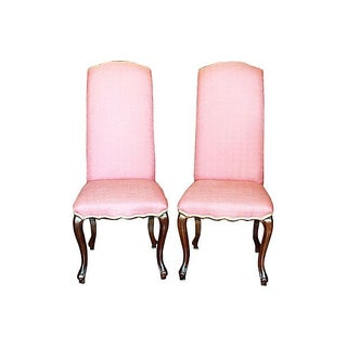 High Back Louis XV Style Chairs - A Pair