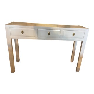 White Lacquer Console Table