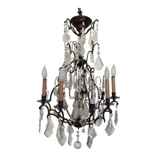 Antique Six Light French Chandelier