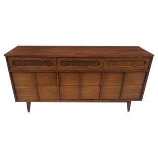 1960's MCM Walnut Credenza Dresser