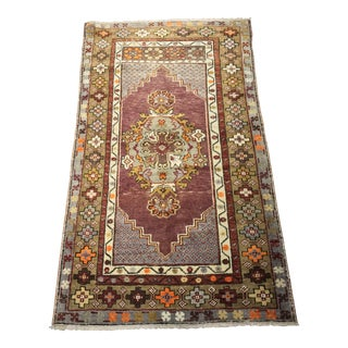"Bellwether Rugs Lavender Vintage Turkish Oushak Rug - 2'9""x4'7"""