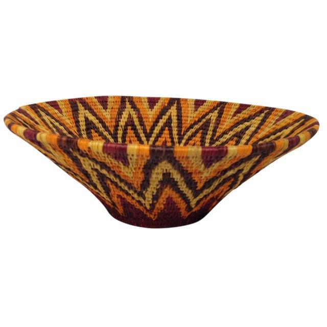 African Woven Baskets: Woven African Basket Bowl
