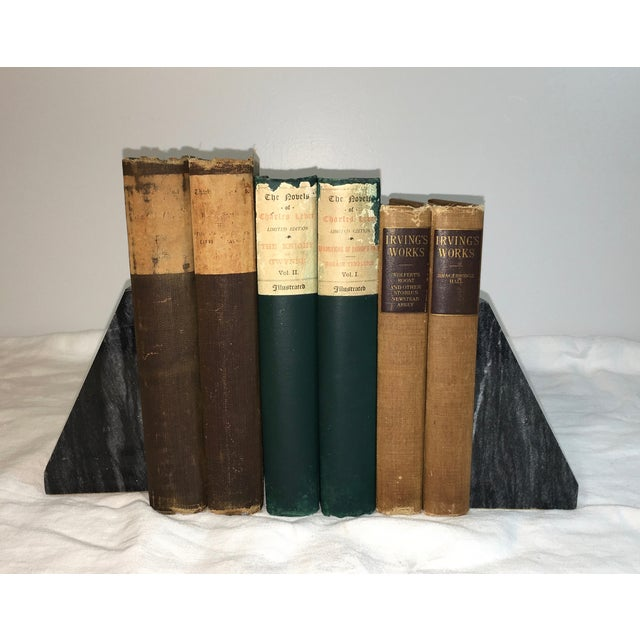 Image of Antique Distressed Decorative Books - Set of 6
