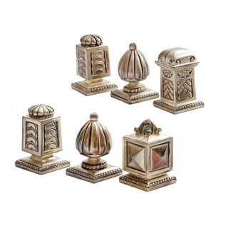 Medieval-Style Silver Place Card Holders- Set of 6