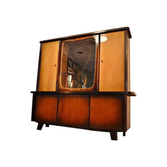 Image of Mid-Century German Shrunk Sideboard Cabinet Bar