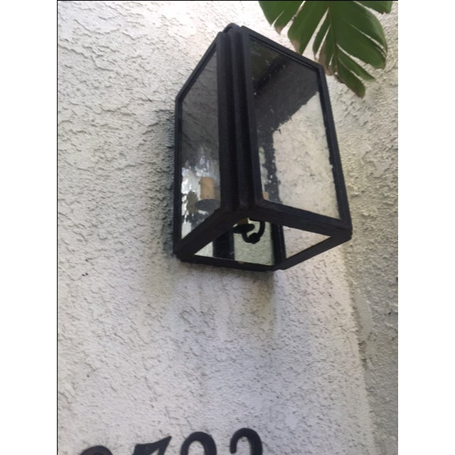 Iron and Glass Outdoor Lantern - Image 5 of 6
