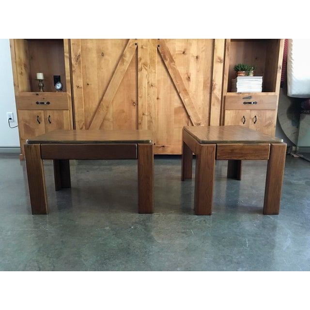 Mid-Century Parsons Style Side Tables - A Pair - Image 2 of 8