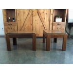 Image of Mid-Century Parsons Style Side Tables - A Pair