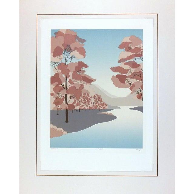 Woodlands Landscape Serigraph - Image 4 of 4