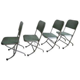 Warren Macarthur Mid-Century Folding Chairs - Set of 4