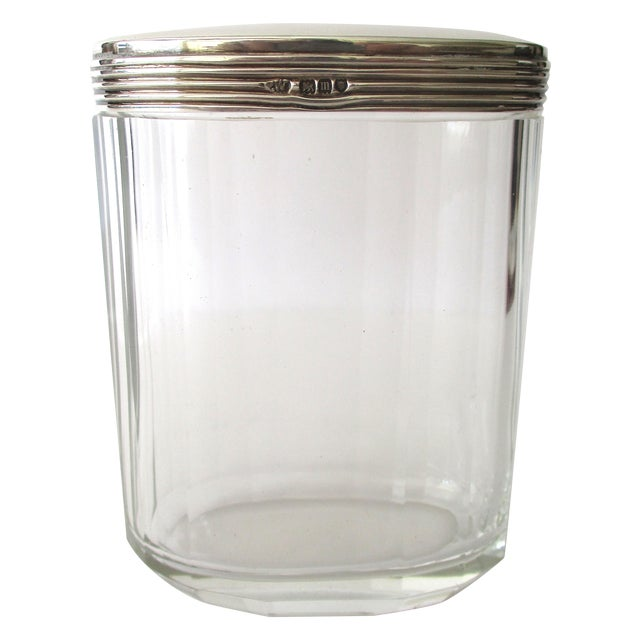 Asprey Glass Jar With Sterling Silver Top - Image 1 of 7