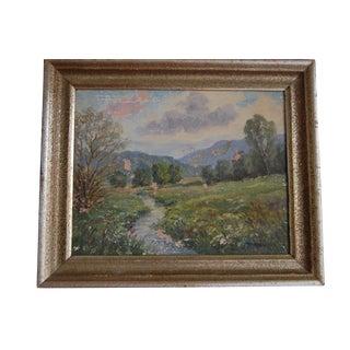 Vintage Pastoral Spring Landscape Painting II