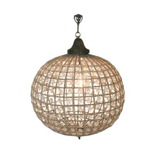 Antique Reproduction French Beaded Globe Chandelier