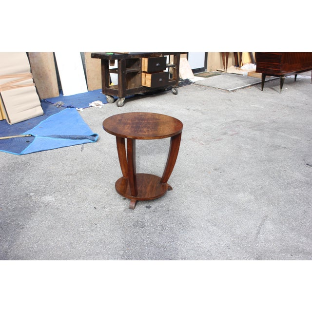 Beautiful French Art Deco Coffee Table or Side Table Exotic Walnut, circa 1940s - Image 2 of 10