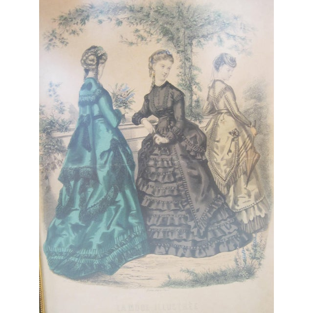 Antique French Fashion Prints - A Pair - Image 6 of 8