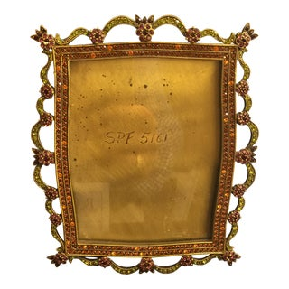 Jay Strongwater Rhinestone Picture Frame