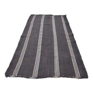 Turkish Gray Wool Floor Kilim