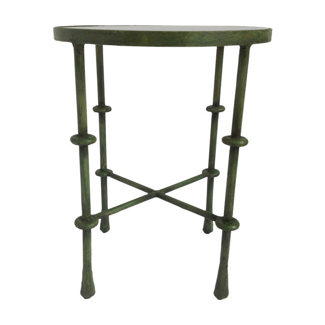 Giacometti-Style Forged Round End Table - Image 1 of 11