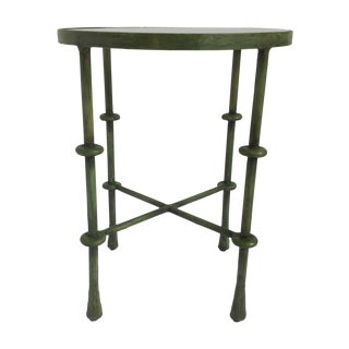 Giacometti-Style Forged Round End Table