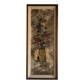 Mid-Century Van Lowe Floral Painting