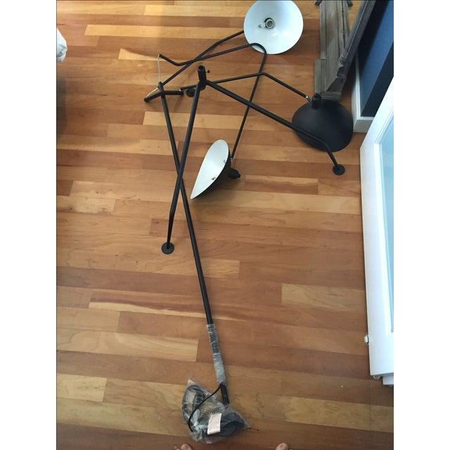 Serge Mouille Replica Black Steel Floor Lamp - Image 2 of 5