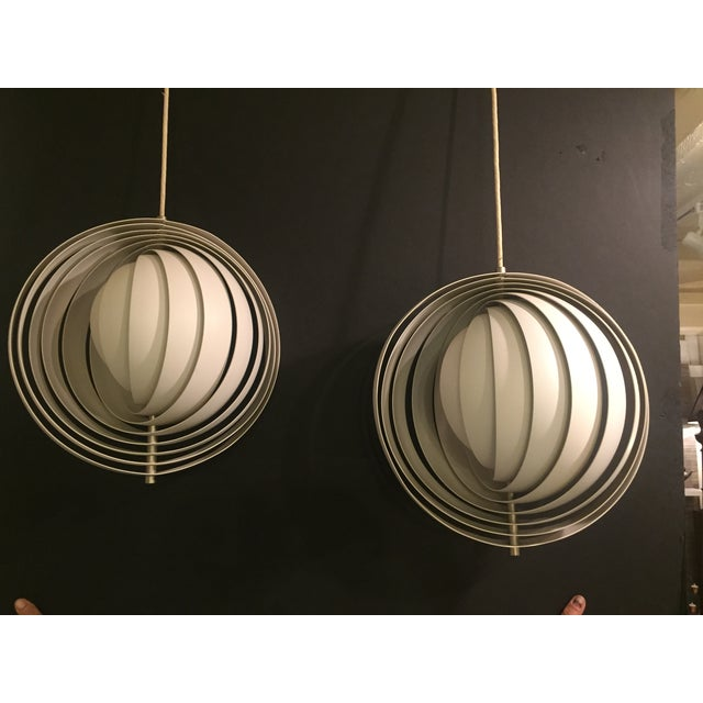 Verner Panton Moon Pendants- A Pair - Image 2 of 7