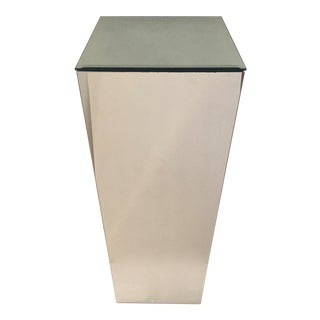 Tall Mirrored Beveled Top Pedestal