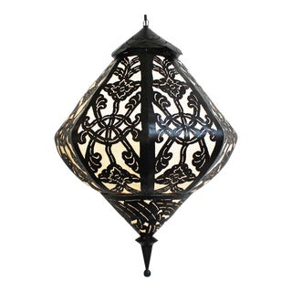 Large Metal Work Diamond Lantern
