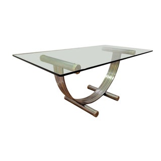Romeo Rega Brass & Chrome Dining Table