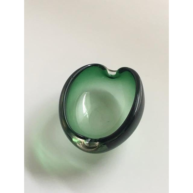 Alfredo Barbini Murano Glass Green Ashtray - Image 2 of 7