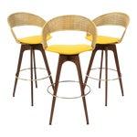 Image of Chet Beardsley Swivel Bar Stools - Set of 3