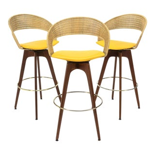 Chet Beardsley Swivel Bar Stools - Set of 3
