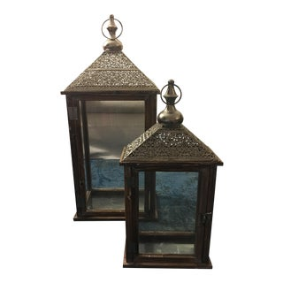 Moroccan Style Lanterns - A Pair