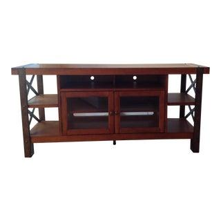 Oak Finish Sofa Table