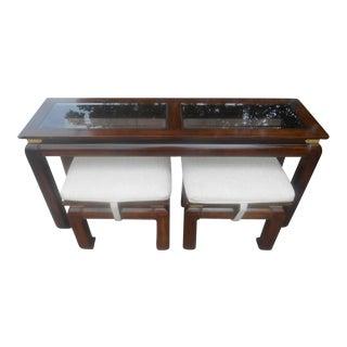 Vintage Berhnardt Ming Console & Seating Set