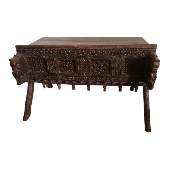 Antique Indian Wood Carved Sideboard - Image 1 of 10