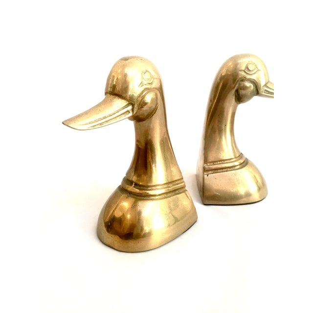 Brass Duck Bookends - Pair - Image 4 of 7