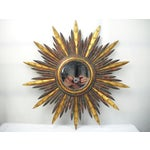 Image of French Carved Wood Starburst Mirror