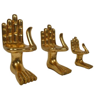 Collection of Early Pedro Friedeberg Miniature Hand Chairs