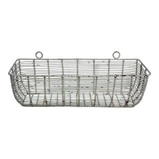 White Iron Basket Planter