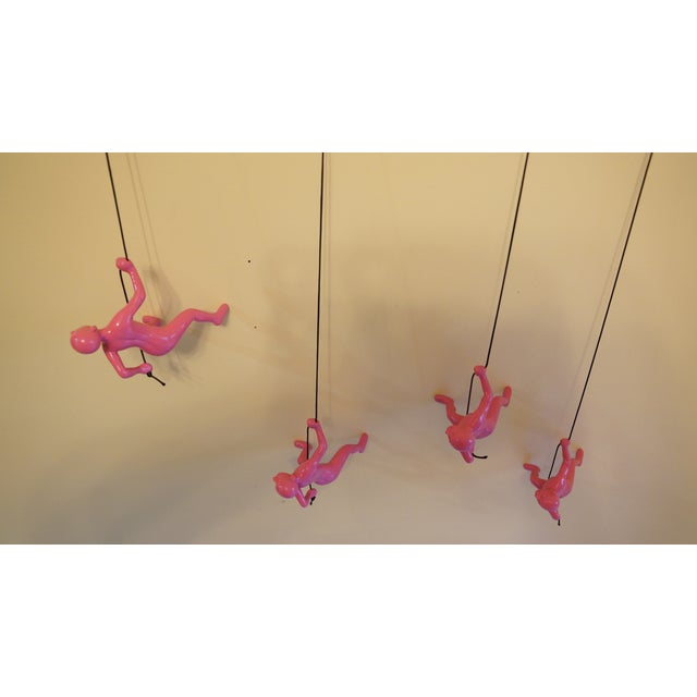 Pink Climbing Man Wall Art - Set of 4 - Image 6 of 7