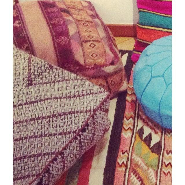 Vintage Moroccan Kilim Sitting Cushion - Image 6 of 6