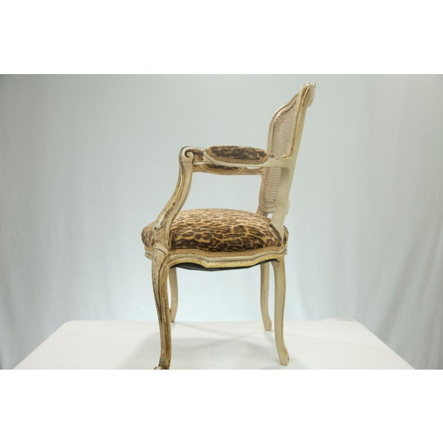 Louis XVI Fauteuil Leopard Print Chairs - A Pair - Image 3 of 5